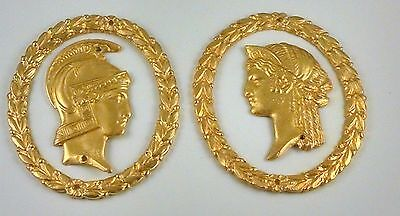 Furniture Hardware His And Hers Style Wreath Ormolu Neoclassical Ornament