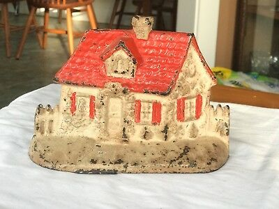 Cast Iron Cottage with Fence Door Stop