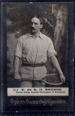 Ogdens Guinea Golds-Tennis Numbered Card-#474- Browne