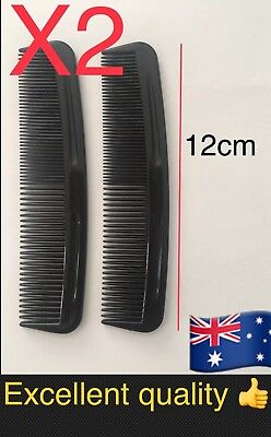 2pc Hair Comb Mens Salon Barber Hairdresser Black Brush For Men Pocket  Travel