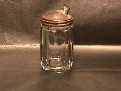 Vintage Pressed - Ribbed Clear Glass - Syrup - Decanter - Unknown Maker