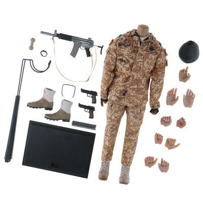 1/6 Scale Soldier Action Figure Toy Body Clothes Set Hands Stand Accessories