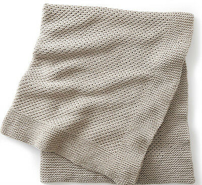 Knitting Pattern - Easy Knit Quiet Times Blanket/afghan/throw In Chunky Yarn