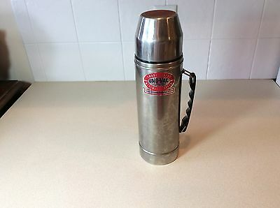 Vintage Uno Vac Unbreakable Stainless Steel Thermos 271-879 Hot and Cold