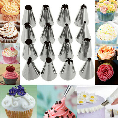 16 Pcs Set Russian Piping Tips Multi-shape Icing Npzzles Cake Decoration Top Bak