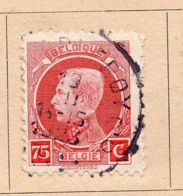 Belgium 1921-23 Early Issue Fine Used 75c. 214029