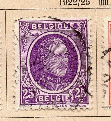 Belgium 1922-25 Early Issue Fine Used 25c. 214048