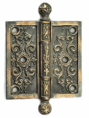 Antique Ornate Ball Tip Victorian Hinge