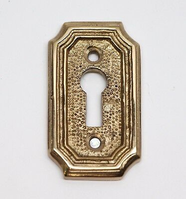 Art Deco Textured Arched Edged Brass Key Hole Cover