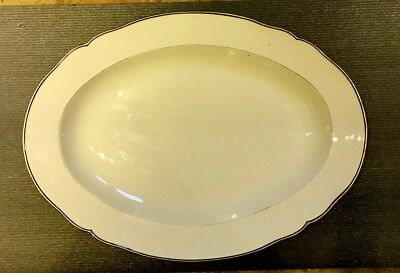 Very Large Porcelain Meat Plate From Kpm Berlin