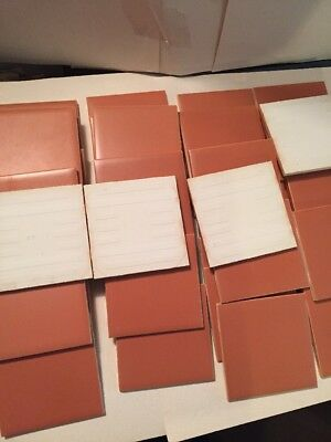 "NOS 40 pcs Vintage Ceramic Tile ""burnt orange"" 60s Warehouse Stock R10"