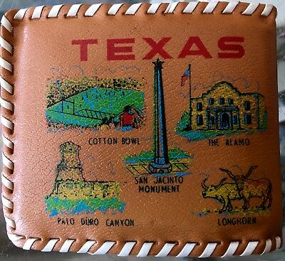 Vintage Texas Wallet 1970s Souvenir Collectible Lone Star State Austin