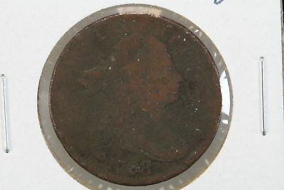 1798/7 Draped Bust Large Cent Overpunched Date
