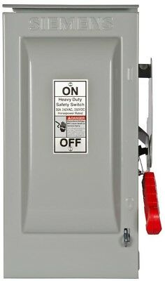 Heavy Duty 30 Amp 240 Volt 2 Pole Outdoor Fusible Safety Switch Neutral Best