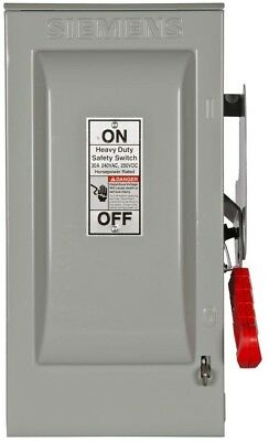 Heavy Duty 30 Amp 240 Volt 2 Pole Indoor Fusible Safety Switch Neutral Best New