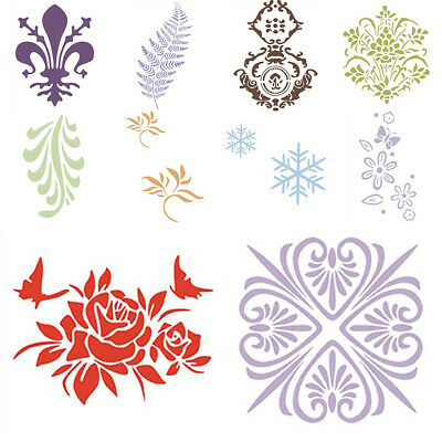 Retro Flower Lace Wall Paint Stencil Painting Grain Wall Decorated Template