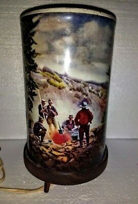 L.A. Goodman Drehlampe Motion lamp Yellowstone Park - Lagerfeuer 1956 top