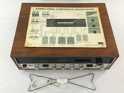 VINTAGE SANSUI 5000A SOLID STATE STEREO AM/FM TUNER AMPLIFIER AMP RECEIVER Plays