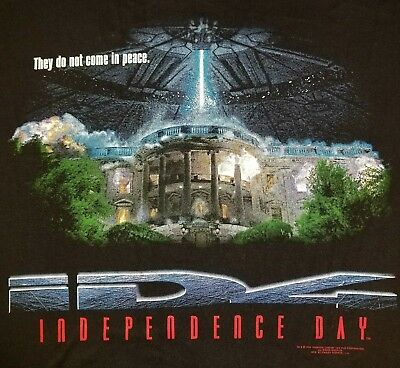 VTG 1996 ID4 INDEPENDENCE DAY PROMO MOVIE T-SHIRT XL 90s