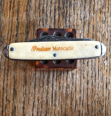 1920's Pocket Knife INDIAN MOTORCYCLE  Hendee Motocycle Antique Harley AMA