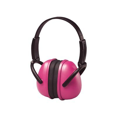 Foldable Earmuffs Noise Cancelling Hearing Protection One Size Vinyl Pink NEW