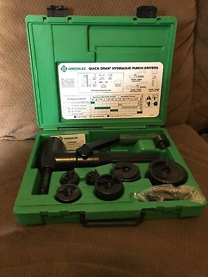 "Greenlee 7906SB Quick Draw 90 Driver Hydraulic Punch Kit 1/2"" thru 2"" Conduit"