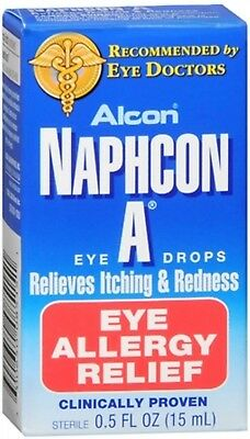 Naphcon A Eye Drops Eye Allergy Relief, 15 mL (PACK OF 3)