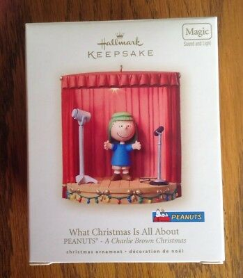 Hallmark Ornament 2007 Linus What Christmas Is All About Charlie Brown Peanuts