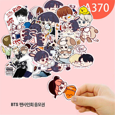 KPOP Cartoon Bangtan Boys BTS J-Hope RM Jung Kook Decal Stickers Scrapbook Set