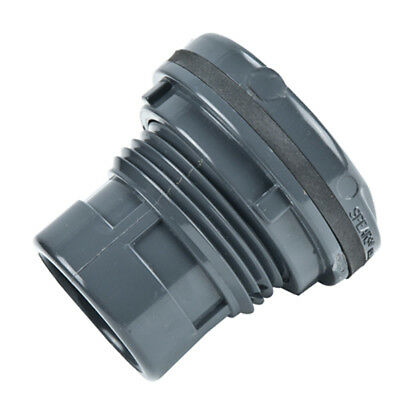 """3/8"""" Installed PVC Tank Adapter with EPDM Gasket - 1-3/16"""" Hole Size"""
