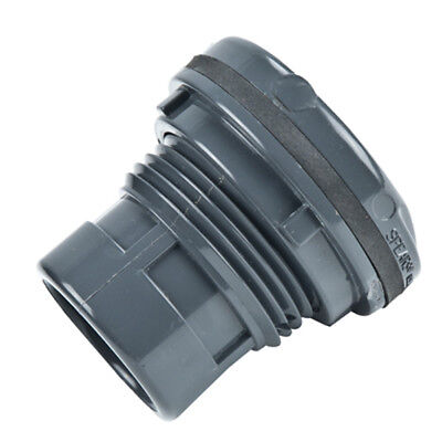 """3/8"""" Loose PVC Tank Adapter with EPDM Gasket - 1-3/16"""" Hole Size"""