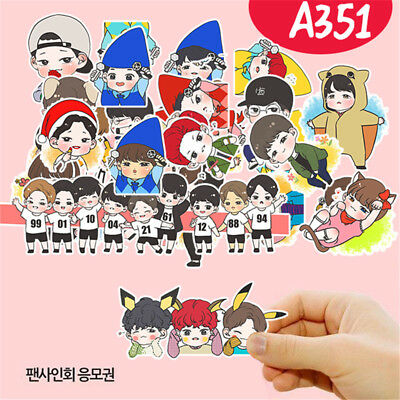 30pcs Set KPOP EXO Cartoon Decal Stickers DIY Album Scrapbook XIUMIN SUHO SEHUN