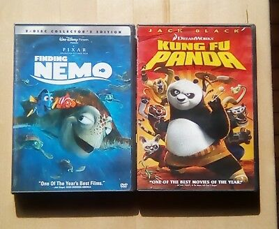 DISNEY & Dreamworks DVD LOT Finding Nemo and Kung Fu Panda LOT OF 2