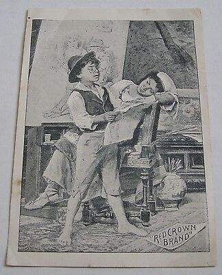 Advertising Trade Card, Standard Oil, Red Crown Brand Stove Gasoline, Utica, Ill