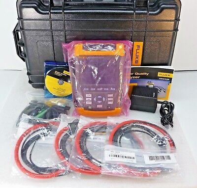NEW Fluke 435 Three Phase Power Quality Analyzer Meter - LOADED