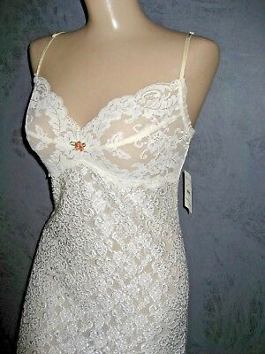 Claire Pettibone Chemise Nightgown Bridal Ivory Lace Reese NWT Large Embroidery