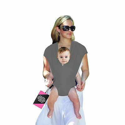 Baby Wrap Loop Style Carrier No Wrapping Involved Elegant Warm Gray