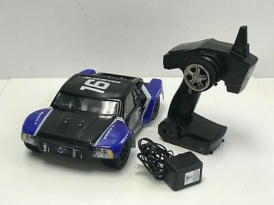 Mad Gear 1/16 Electric Short Course RC Racing Truck 2.4ghz Ready to Run (Blue)