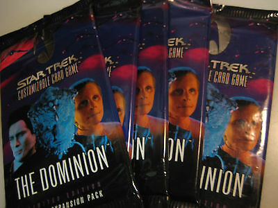 STAR TREK CCG The Dominion Booster Pack x5!!!, Decipher LOW SHIP