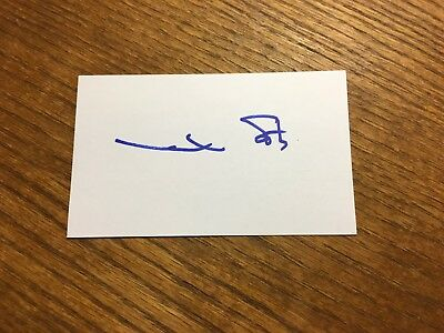 Mark Spitz Signed 3X5 Index Card Olympic Swim Gold Medalist 1972 Olympian Auto