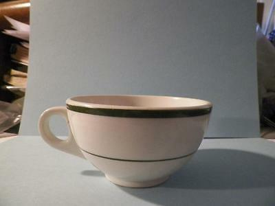 Shenango China Restaurant Ware Cup Teacup Only White Green Bands Vintage