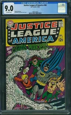 Justice League of America #68 CGC 9.0 OW