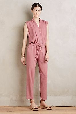 4745d8aa4fa4 NWoT Anthropologie Cloth   Stone Amara Mignon in Pink Cross Front Jumpsuit M