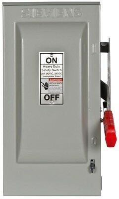 Heavy Duty 30 Amp 240 Volt 3-Pole Outdoor Fusible Safety Switch Neutral Best New
