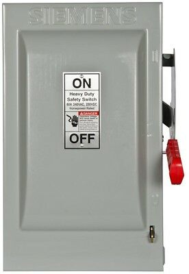 Heavy Duty 60 Amp 240 Volt 2 Pole Indoor Fusible Safety Switch Neutral Best New