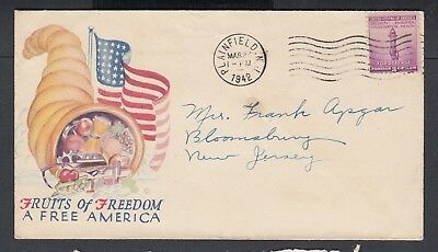 Usa 1942-45 Wwii Three Patriotic Covers American Freedom