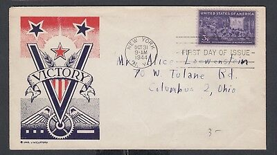 "Usa 1943-44 Wwii Three Patriotic Covers ""v"" For Victory"