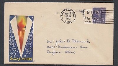 Usa 1943-44 Wwii Three Patriotic Covers Victory, Protection & Freedom