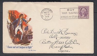 Usa 1943-45 Wwii Three Patriotic Covers Us Navy & Liberty Torch