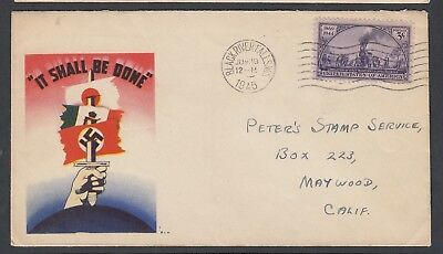 Usa 1943-45 Wwii Three Patriotic Covers Sword & Servicemen
